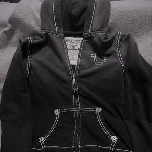 True Religion Kids Black Hoodie Size L